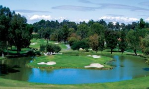 Hole 17 at Vista Valencia Golf Course in Santa Clarita